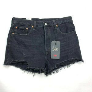 Levi's 501 High Rise Button Fly Shorts Frayed NWT
